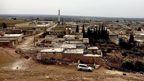 Wyzwolone miasto Nubel na północy prowincji Aleppo w Syrii - Sputnik Polska