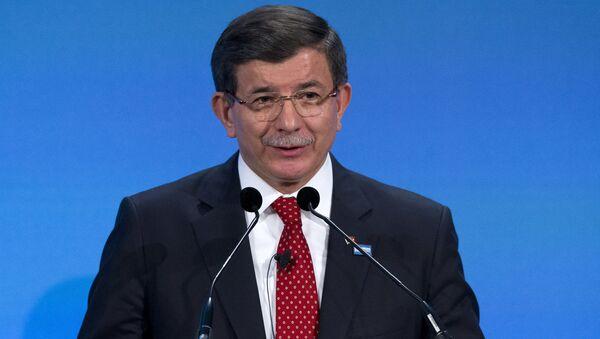 Premier Turcji Ahmet Davutoğlu - Sputnik Polska