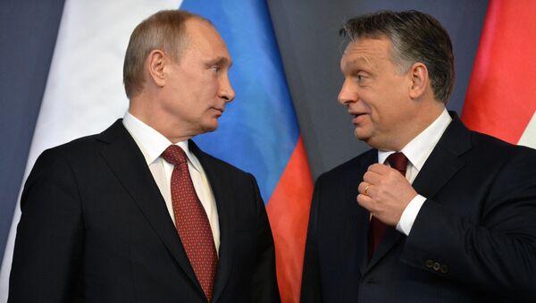 Prezydent Rosji Władimir Putin i premier Węgier Viktor Orban - Sputnik Polska