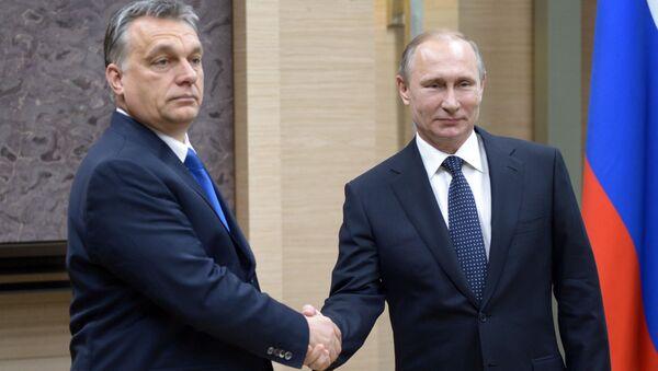 Premier Węgier Viktor Orban i prezydent Rosji Władimir Putin - Sputnik Polska