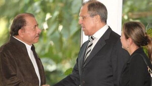 Prezydent Nikaragui Daniel Ortega Saavedra i minister spraw zagranicznych Rosji Siergiej Ławrow - Sputnik Polska