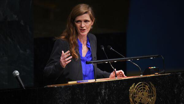 Stały przedstawiciel Stanów Zjednoczonych przy ONZ Samantha Power - Sputnik Polska