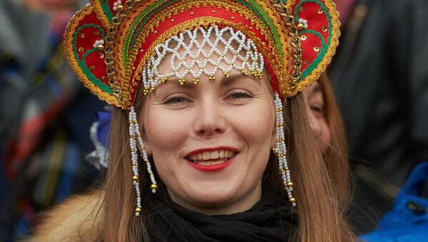 Rosjanka na meczu Rosja-Norwegia futbolu amerykańskiego - Sputnik Polska