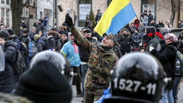 Protesty na Placu Niepodległości w Kijowie - Sputnik Polska