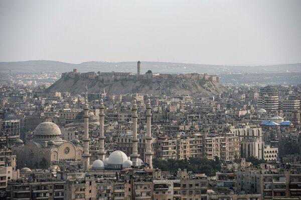 Widok na syryjskie miasto Aleppo - Sputnik Polska