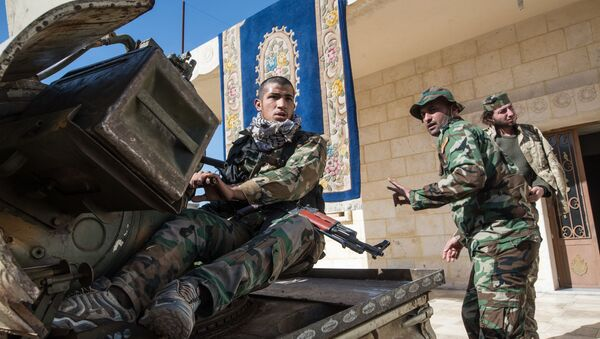 Żołnierze Syryjskiej Armii w prowincji Aleppo - Sputnik Polska