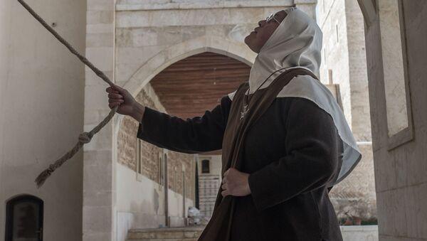 Zakonnica w klasztorze katolickim w mieście Kara w Syrii. - Sputnik Polska