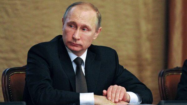 Prezydent Rosji Władimir Putin na posiedzeniu kolegium FSB w Moskwie - Sputnik Polska