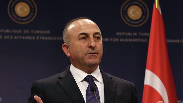 Szef tureckiej dyplomacji Mevlut Çavusoglu - Sputnik Polska
