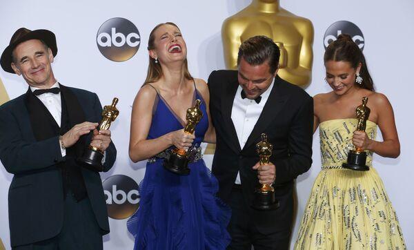 Mark Rylance, Brie Larson, Leonardo DiCaprio i Alicia Vikander - Sputnik Polska