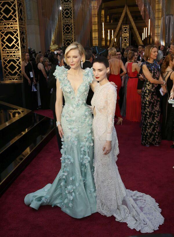 Aktorki Cate Blanchett i Rooney Mara przed 88. ceremonią wręczenia Oscarów - Sputnik Polska