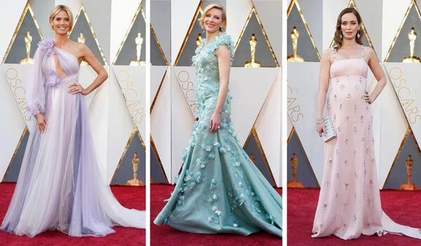 Aktorki Heidi Klum, Kate Blanchett i Emily Blunt przed 88. ceremonią wręczenia Oscarów - Sputnik Polska