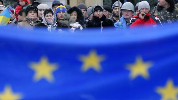 Flaga UE w Kijowie - Sputnik Polska