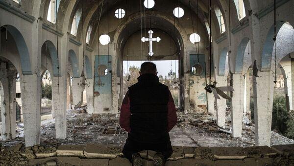 Chrześcijańska świątynia zniszczona przez dżihadystów z PI na północnym wschodzie Syrii - Sputnik Polska