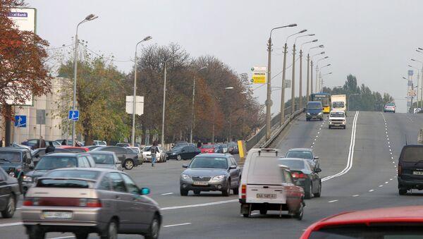 Moskiewski Prospekt, jedna z ulic w Kijowie - Sputnik Polska