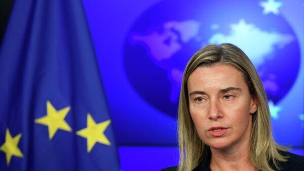 Szefowa unijnej dyplomacji Federica Mogherini - Sputnik Polska