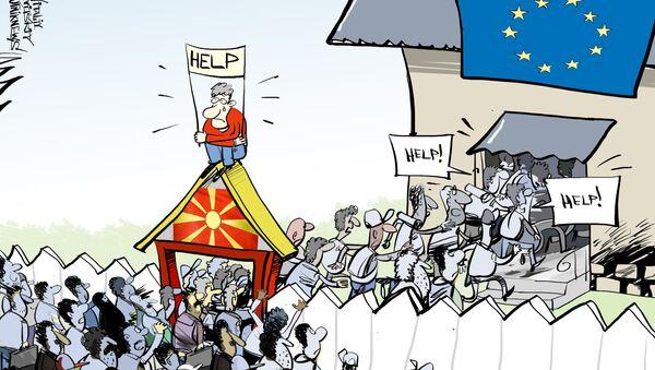 Macedonia zamknęła granicę dla wszystkich imigrantów - Sputnik Polska