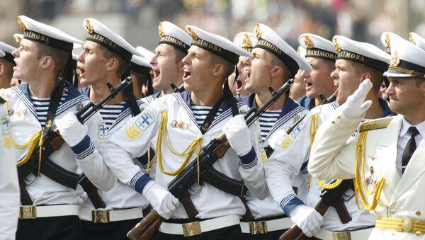 Ukraińscy marynarze w Dzień Niepodległości Ukrainy - Sputnik Polska