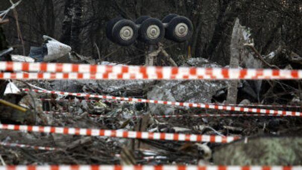 Miejsce katastrofy polskiego samolotu prezydenckiego pod Smoleńskiem, 11 kwietnia 2010 r. - Sputnik Polska