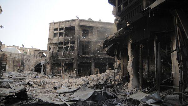 Ruiny miasta Aleppo - Sputnik Polska