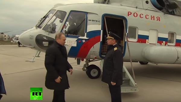 Putin skontrolował budowę mostu przez Cieśninę Kerczeńską - Sputnik Polska