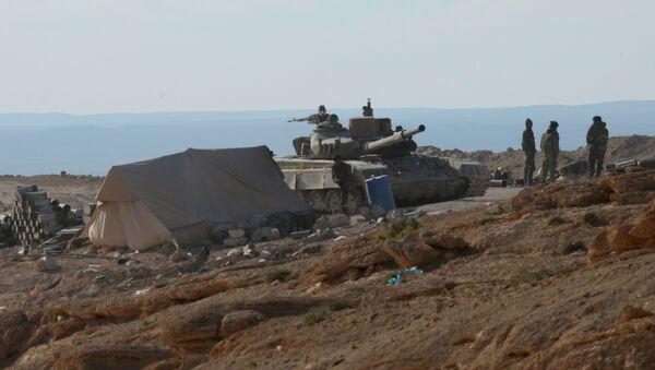 Pozycje syryjskiej armii w pobliżu Palmyry - Sputnik Polska