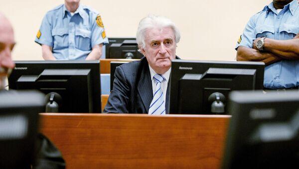 Бывший президент Республики Сербской Радован Караджич на вынесении приговора Международного трибунала по бывшей Югославии в Гааге, Нидерланды - Sputnik Polska