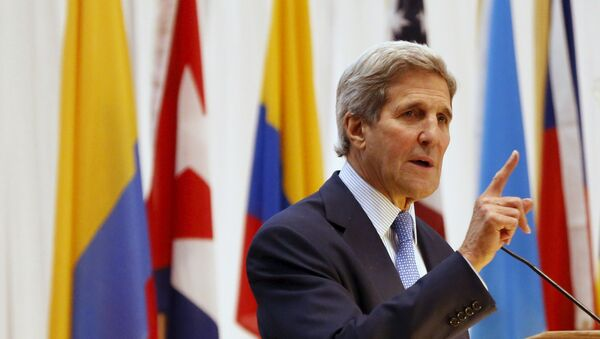 Sekretarz stanu USA John Kerry - Sputnik Polska