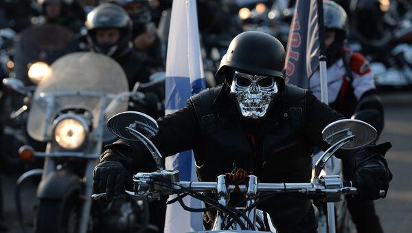 Nocne Wilki na otwarciu moto-sezonu w Moskwie - Sputnik Polska
