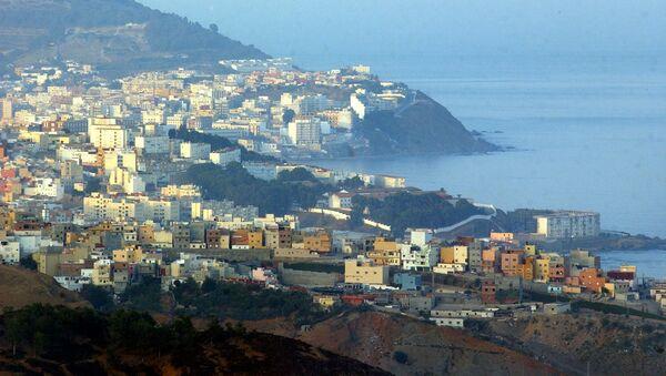 Widok na hiszpańską półenklawę na wybrzeżu Maroka - Sputnik Polska
