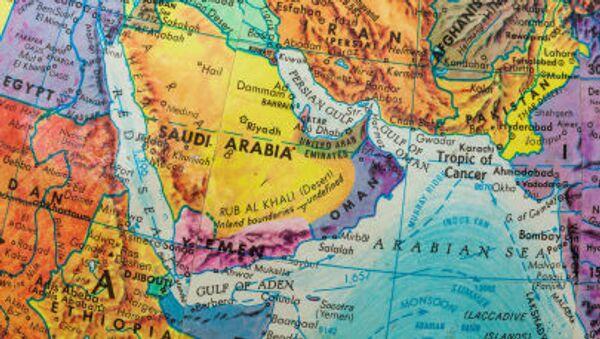 Mapa Bliskiego Wschodu i krajów Zatoki Perskiej - Sputnik Polska
