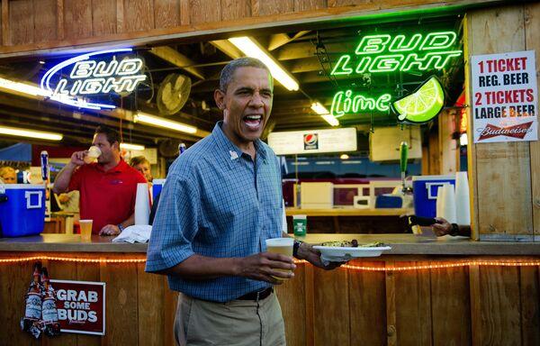 Prezydent Barack Obama w mieście Des Moines stanu Iowa - Sputnik Polska