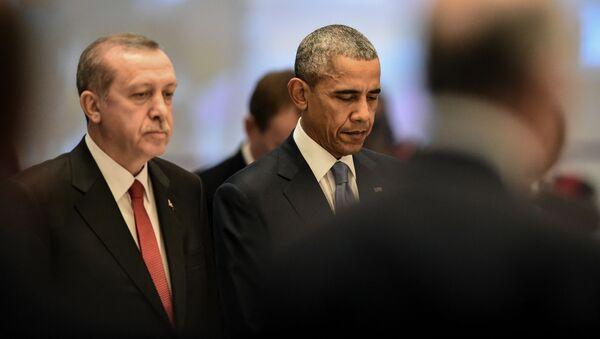 Prezydent Stanów Zjednoczonych Barack Obama i przywódca Turcji Recep Tayyip Erdogan - Sputnik Polska