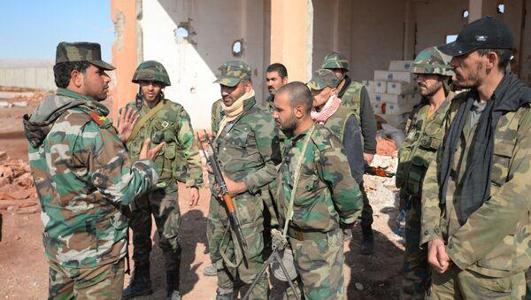 Syryjscy żołnierze na obrzeżach Palmyry - Sputnik Polska
