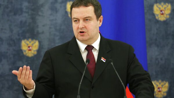 Serbski minister spraw zagranicznych Ivica Dačić - Sputnik Polska
