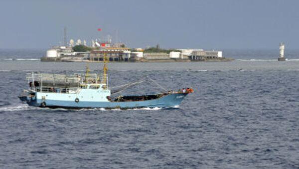 Chiński statek rybacki w akwenie Morza Południowochińskiego - Sputnik Polska