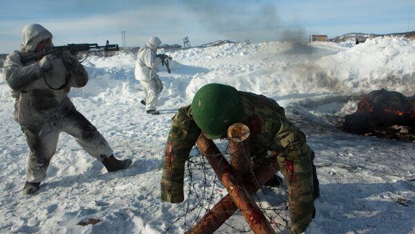 61. Pułk Piechoty Morskiej Floty Północnej Rosji - Sputnik Polska