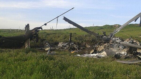 Helikopter azerbejdżańskich sił powietrznych w Górskim Karabachu - Sputnik Polska