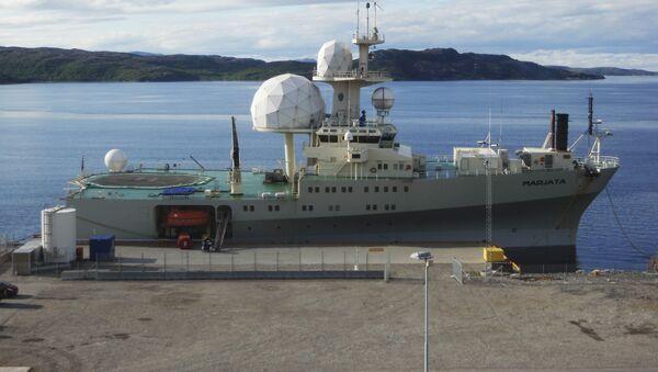 Norweski okręt wywiadowczy Marjata w porcie Kirkenesu - Sputnik Polska