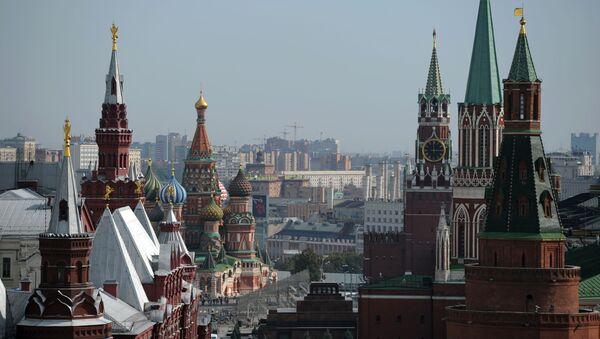 Widok na Plac Czerwony z dachu hotelu Ritz-Carlton w Moskwie - Sputnik Polska
