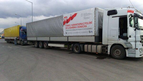 Polska pomoc humanitarna dla Donbasu - Sputnik Polska
