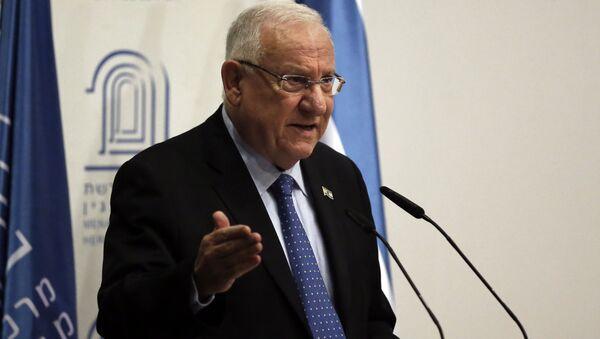 Prezydent Izraela Reuven Rivlin w Jerozolimie - Sputnik Polska