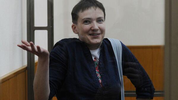 Obywatelka Ukrainy Nadieżda Sawczenko podczas ogłoszenia wyroku w Donieckim Sądzie Miejskim w obwodzie rostowskim - Sputnik Polska