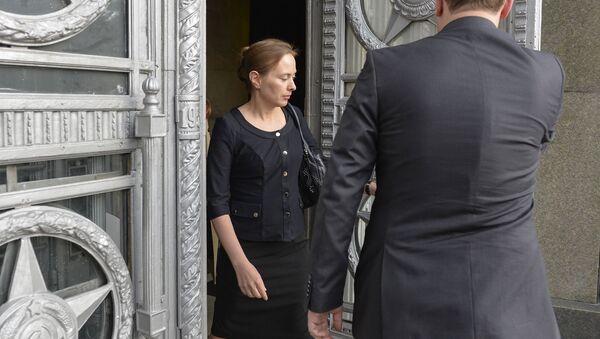 Ambasador Polski w Moskwie Katarzyna Pełczyńska-Nałęcz w MSZ Rosji - Sputnik Polska