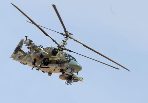 Helikopter Ka-52 podczas operacji wojskowej w Syrii - Sputnik Polska