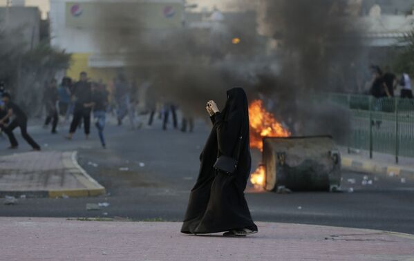 Akcja protestacyjna w Bahrajnie - Sputnik Polska