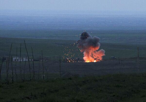 Zestrzelony azerbejdżański samolot bezpilotowy - Sputnik Polska