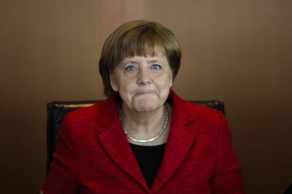 Kanclerz Niemiec Angela Merkel w Berlinie - Sputnik Polska