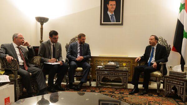 Delegacja rosyjskich parlamentarzystów w Syrii - Sputnik Polska