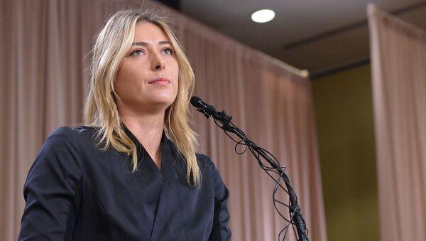Rosyjska tenisistka Maria Szarapowa na konferencji prasowej w Los Angeles - Sputnik Polska